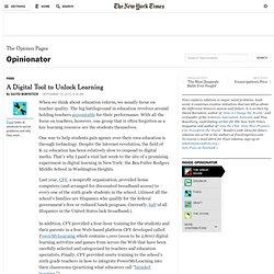 Un outil numérique pour déverrouiller l'apprentissage