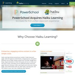 Haiku LMS | The K12 learning management system |