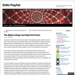 The digital college: learning from France