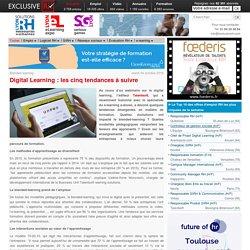 Digital Learning : les cinq tendances à suivre