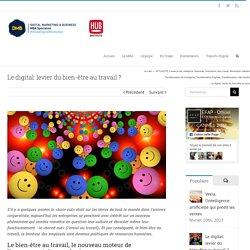Le digital: levier du bien-être au travail ? - MBA DMB