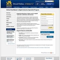 Post-Master' s Digital Libraries Specialist Program