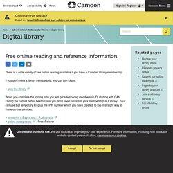 Digital library - Camden Council