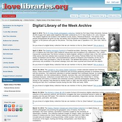 Digital Library of the Week Archive