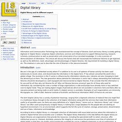 Digital library and its different aspect