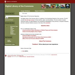Digital Library Of The Commons