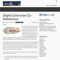 Digital Literacies (1) – Definitions