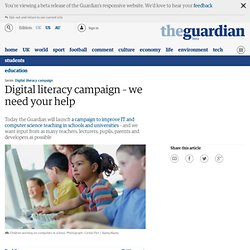 Digital literacy campaign – we need your help | Education