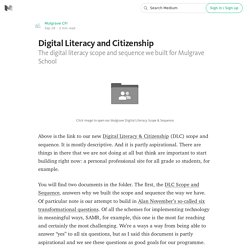Sample Digital Literacy and Citizenship Scope And Sequence From The Mulgrave School