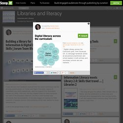 Digital literacy across the curriculum | Libraries and literacy