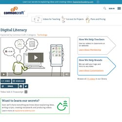 Digital Literacy Explained by Common Craft (VIDEO)