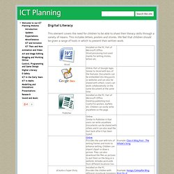 Digital Literacy - ICT Planning