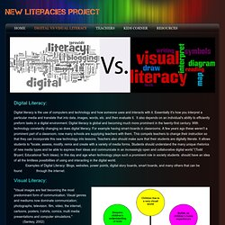 Digital vs Visual Literacy - New Literacies Project