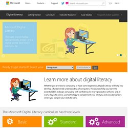 Microsoft: Digital Literacy Overview