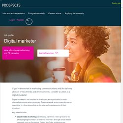 Digital marketer job profile