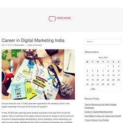 Career in Digital Marketing India – 30secondscv.com
