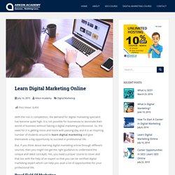 Learn Digital Marketing Online - Arkon Academy Blog