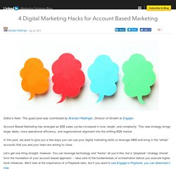 4 Digital Marketing Hacks for Account Based Marketing