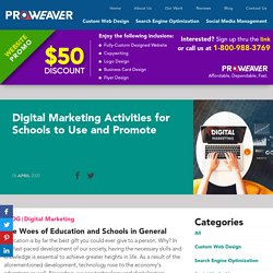 Digital Marketing Activities for Schools to Use and Promote