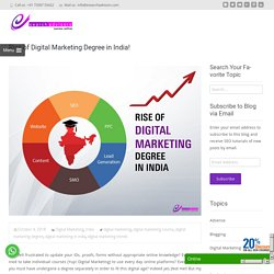 Rise of Digital Marketing Degree in India