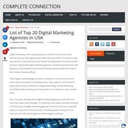 List of Top 20 Digital Marketing Agencies in USA