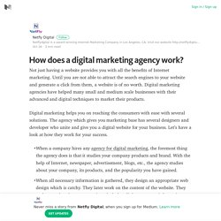 How does a digital marketing agency work? – Netfly Digital – Medium