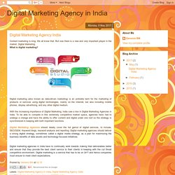 Digital Marketing Agency in India: Digital Marketing Agency India