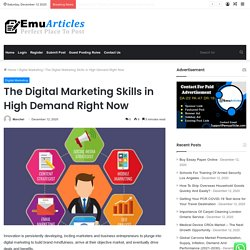 The Digital Marketing Skills in High Demand Right Now - Emu Articles