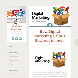 How Digital Marketing Helps a Business in India