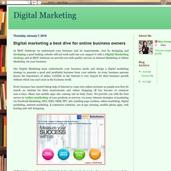 Digital Marketing : Digital marketing a best dive for online business owners