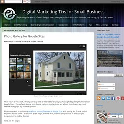 Digital Marketing Tips for Small Business: Photo Gallery for Google Sites