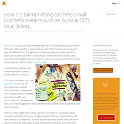 How digital marketing can help small business owners such as by local SEO, local listing…