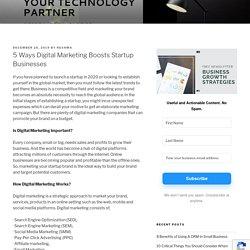 5 ways of Digital marketing Startup business