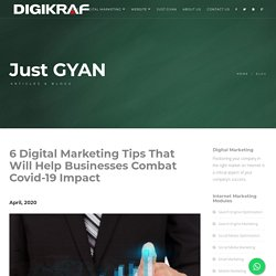 Digital Marketing Company in Thane - 6 Digital Marketing Tips That Will Help Businesses Combat Covid-19 Impact