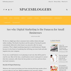 See why Digital Marketing is the Panacea for Small Businesses