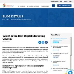 Which is the Best Digital Marketing Course? Careerera