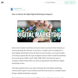 How to Choose the Right Digital Marketing Company?