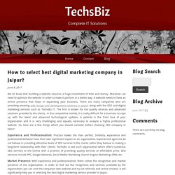 How to select best digital marketing company in Jaipur?