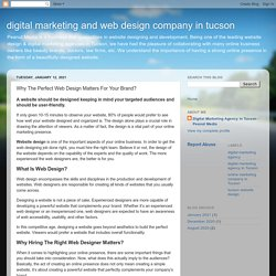 digital marketing and web design company in tucson : Why The Perfect Web Design Matters For Your Brand?