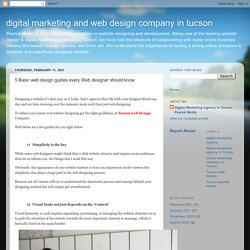 digital marketing and web design company in tucson : 5 Basic web design guides every Web designer should know