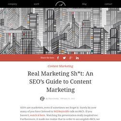 Real Marketing Sh*t: An SEO's Guide to Content Marketing - 97thFloor