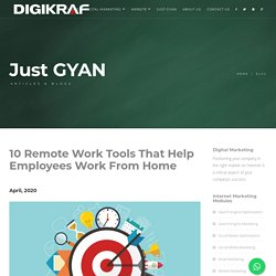 Online digital marketing agency thane - 10 Remote Work Tools That Help Employees Work From Home