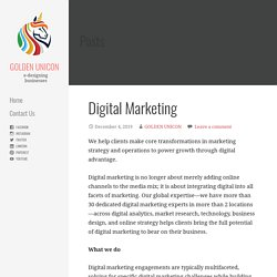 Digital Marketing - GOLDEN UNICON