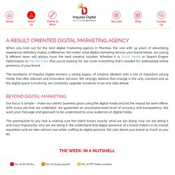 About Impulse Digital - Digital Marketing Agency In Mumbai
