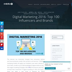 Digital Marketing: Top 100 Influencers and Brands