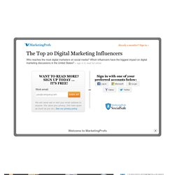 The Top 20 Digital Marketing Influencers