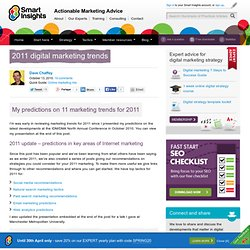 2011 digital marketing trends > Smart Insights Digital Marketing