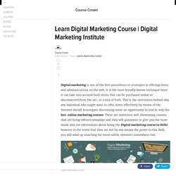 Learn Digital Marketing Course