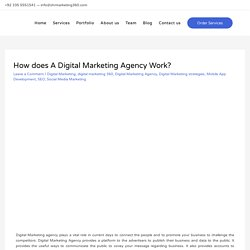 How does A Digital Marketing Agency Work? - in Islamabad