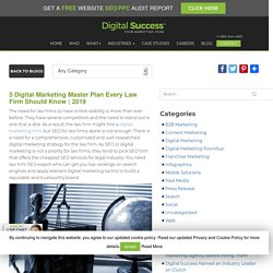 5 Digital Marketing Master Plan Every Law Firm Should Know
